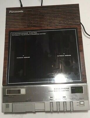 VINTAGE Panasonic Easa-Phone KX-T1425 Answering Machine TAPES & POWER CORD