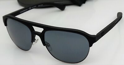 f4f91381 EMPORIO ARMANI SUNGLASSES 4077 5063/81 Black Rubber Grey Polarized ...