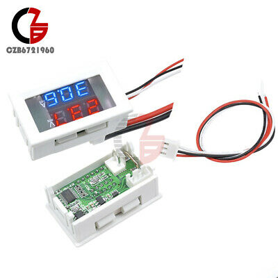 Dual Blue + Red LED Display DC 100V 10A Voltmeter Ammeter Volt Amp Meter Gauge