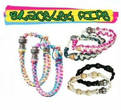Bracelet Pipe - Assorted Colours - Smoking Tobacco Pipes Hookah Bong Spoon