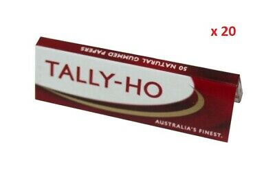 Tally Ho Australia's Finest Tobacco Cigarette Rolling Papers 50 Leaves x 20 pack