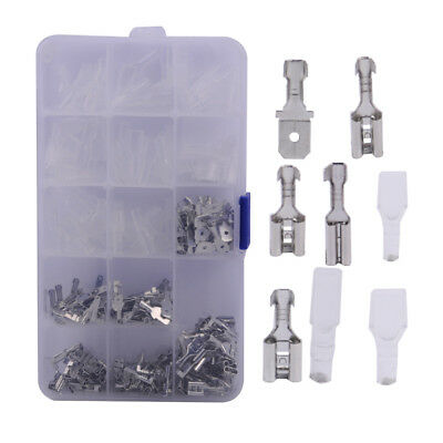 270x Assorted Non-insulated Male Female Spade Crimp Wire Terminal Connector Kit