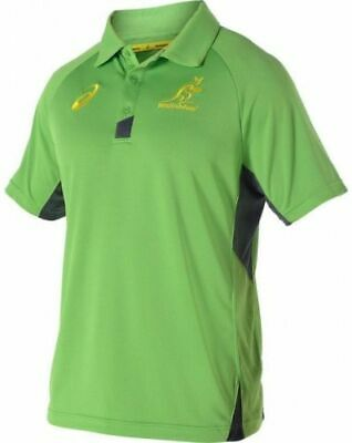 Australia Wallabies Rugby Training Polo Mens S - 2Xl New Asics
