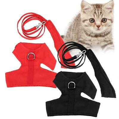 Adjustable Safety Cat Outdoor Walking Jacket Escape Proof Cat Harness with Leash