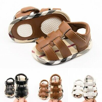 Baby Infant Summer Shoes Toddler Boy Girl Soft Soled First Walkers Sandals 0-1T