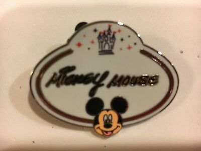 Mickey Mouse 2010 Name Badge Mystery Collection Disneyland H/K Disney Pin