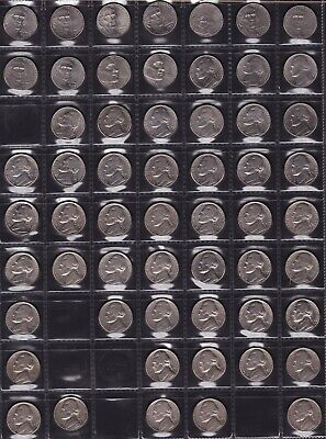 United States Five Cent Coins Dates from 1960 to 2011 all different 37 Coins