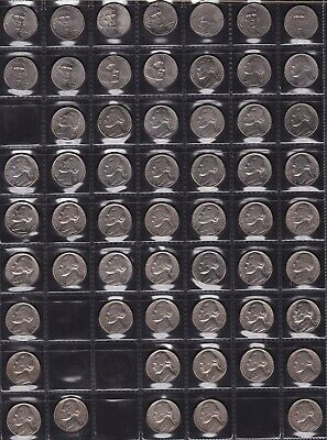 United States Five Cent Coins Dates from 1961 to 2011 all different 32 Coins