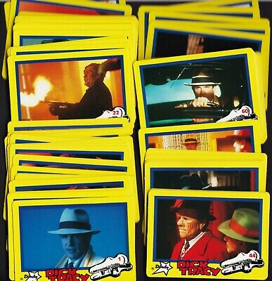 Dick Tracy Dandy Collector Cards Full Set of 84 Cards
