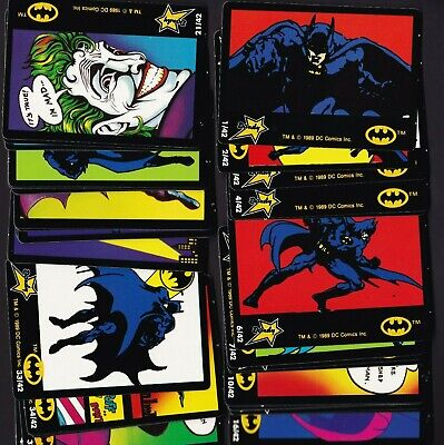 Batman 1989 Dandy Collector Cards Full Set of 42 Cards