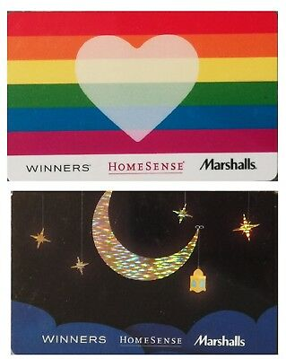2 collectible WINNERS MARCHALLS HOMESENCE gift cards Canada TJX LGBT Crescent