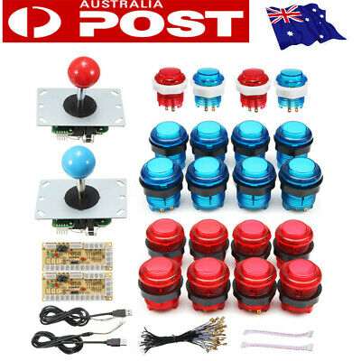 2-Player LED Arcade DIY Kit 2x LED Encoders, 2x Joystick, 20x LED Arcade Buttons