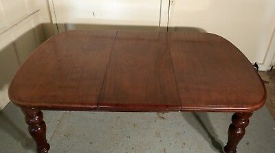 Early Victorian Mahogany Extending Dining Table, seats 12 Diners