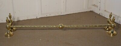 A Very Attractive Large Rope Twisted Brass Fire Surround
