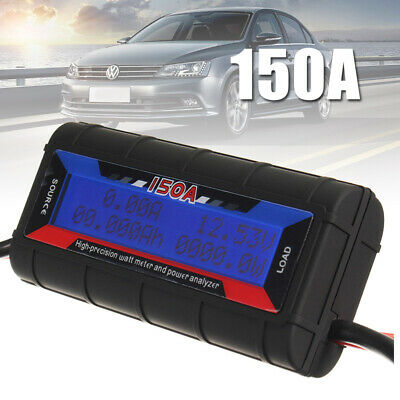 150A Digital LCD Volt Amp Watt Meter Power Analyser Solar Caravan