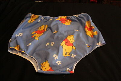 adult baby, sissy, new line, blue cotton winnie  the pooh  panties