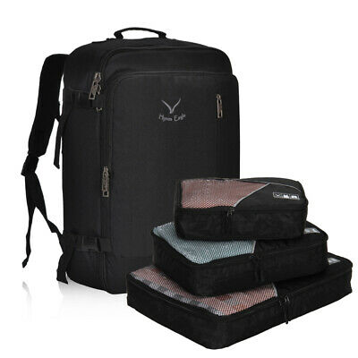 Hynes Eagle 38L Flight Approved Weekender Carry-Ons Backpack S/3 Packing Cubes