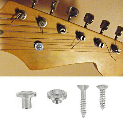 NEW Electric Guitar Bass String Tree Retainer with Screw Set Guitar Parts Silver