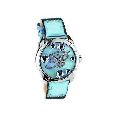 Orologio Donna BLUMARINE BM.3119LS/01 Vera Pelle Celeste Swarovski Silver