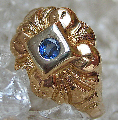 ❤️Biedermeier Ring in aus 18k 750 Gold Schmuck mit Safir Ring alt antik antique