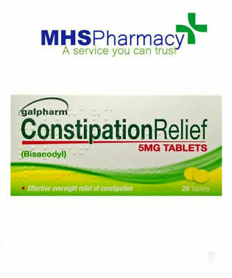 20 CONSTIPATION RELIEF BISACODYL TABLETS 5mg LAXATIVE galpharm