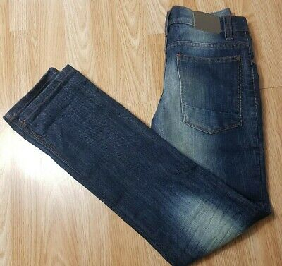 Next Boys Age 12 Years Denim Skinny Straight Stonewashed Jeans Trouser Excellent