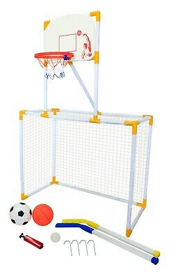 Football Goal Posts Hockey Basket Ball Garden Games Outdoor Childrens Sports Set