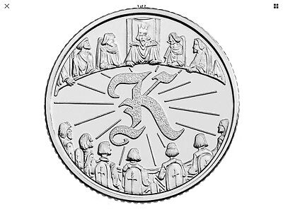 """2018 NEW Uncirculated 10p Coin """"King Arthur"""" By The Royal Mint K Ten Pence"""