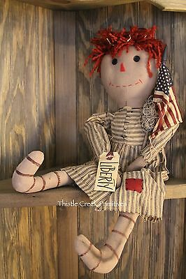 Liberty Annie Primitive - Style Doll - NEW