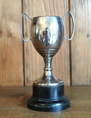 vintage NOT ENGRAVED silver plate trophy, loving cup, trophies, trophy