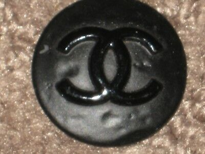 Chanel  Cc Logo 1  Painted Black Metal Button  22  Mm/  Around 1''  New