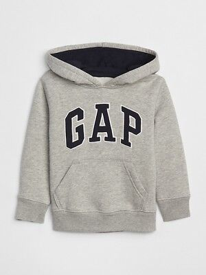 NWT Toddler Boys size 4T Gap Logo hoodie pullover Gray