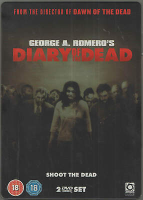 Diary Of The Dead - Limited Edition 2 Disc STEELBOOK EDITION DVD Region 2 UK H4a