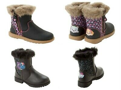 Girls Paw Patrol My Little Pony Character Zip Boots School Shoes Uk Size 5-12