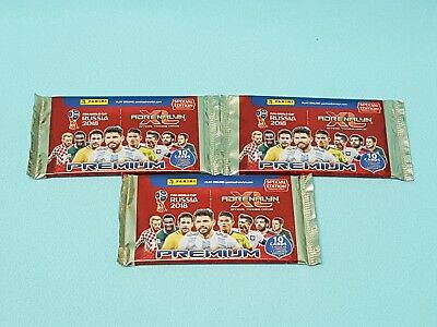 Panini Adrenalyn WM World Cup Russia 2018 Premium 3 x Booster 3 Limited Edition