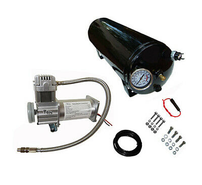 """""""Viking Horns"""" ON-BOARD AIR SYSTEM, 3 GAL TANK/150 PSI COMPRESSOR FOR TRAIN HORN"""