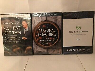 Eat Fat Get Thin Bundle Mark Hyman 3 DVDs ~BRAND NEW~