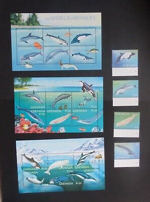 Grenada 2001 whales Dolphins SG4519/4540 MNH unmounted mint