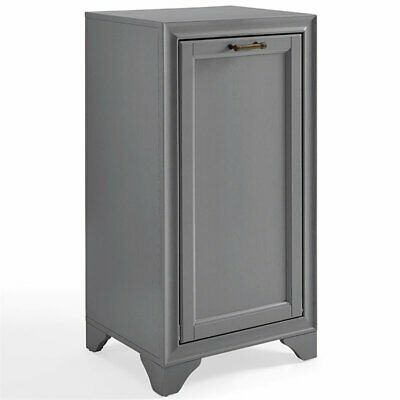 Crosley Tara Laundry Hamper in Vintage Gray