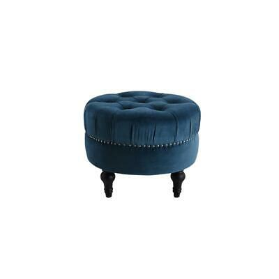 Strange Velvet Tufted Upholstered Ottoman Bench Wood Nailhead Finish Gmtry Best Dining Table And Chair Ideas Images Gmtryco