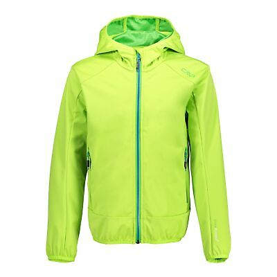 CMP Softshelljacke Jacke Boy Fix Hood Jacket grün winddicht wasserdicht