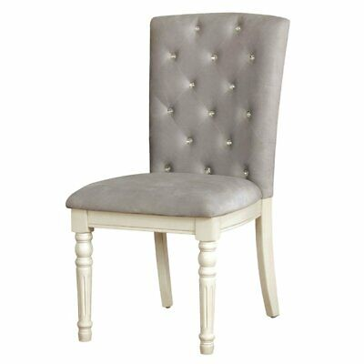 Furniture of America Gypsum Upholstered Dining Side Chair (Set of 2)