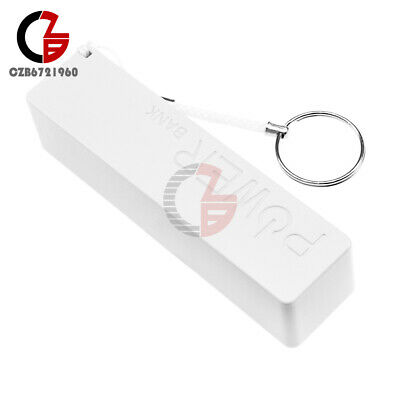 USB Power Bank Charger Pack Box Battery Case For 1x18650 DIY Portable White