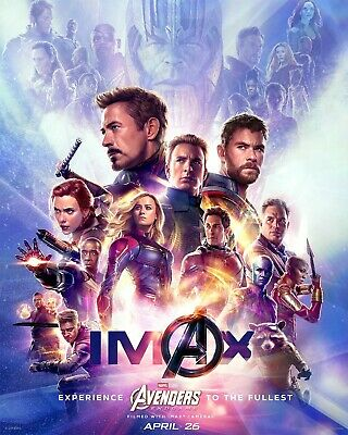 Avengers End Game Imax Large Movie Poster Canvas 20X30 Glossy Photo Paper 24X36