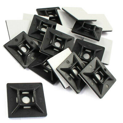 Self Adhesive or Screw Cable Tie (4.8mm) Mounts Clips for Cable, Wire *Pack 50*