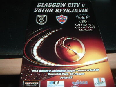 Glasgow City Ladies v Valur Reykavik Champions League
