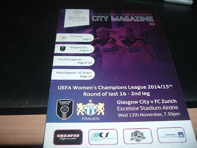 Glasgow City Ladies v Zurich 2014 Champions League