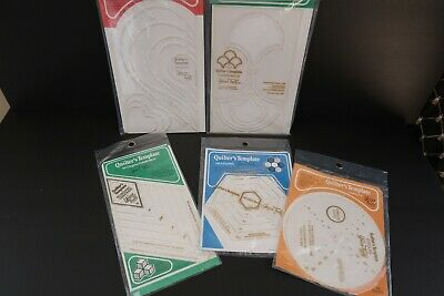 5 Yours Truly Quilter's Templates Hexagons Circles Hearts Clamshells Diamonds