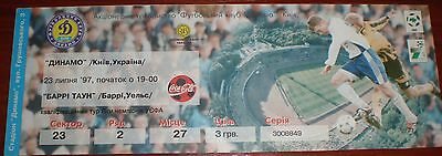 Dynamo Kiev Home And Away European Comps Tickets 1986-2005