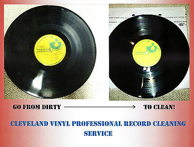 Professional Record Cleaning Service, Ultrasonic Machine Cleaned+VPI 20 records